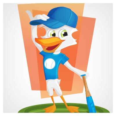اردک و بیسبال