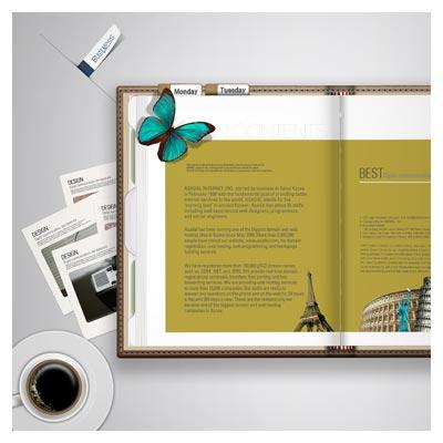 کتاب و لوازم مربوطه روی میز