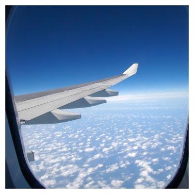 نمای بیرون هواپیما
