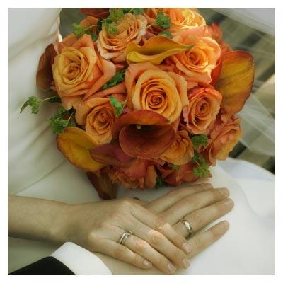 دانلود تصویر رایگان با موضوع ازدواج و عروسی (عکس داماد و عروس دست در دست یکدیگر)