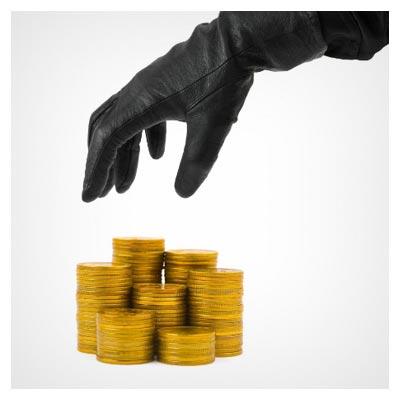 عکس رایگان و با کیفیت با موضوع سرقت پول و سکه (اختلاس)