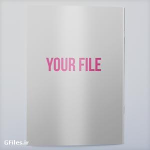 فایل psd پیش نمایش یا موکاپ لایه باز جلد مجله
