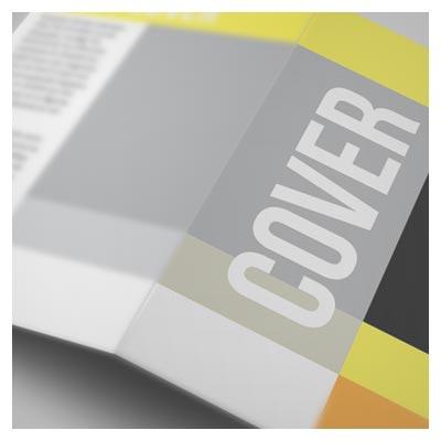 طرح لایه باز موکاپ جلد کاتالوگ از نمای نزدیک ارائه شده با پسوند psd