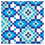 الگوی تکرار شونده (پترن) کاشی های مربعی