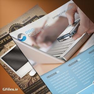 دانلود فایل پیش نمایش تراکت و پوستر از نمای نزدیک (کلوزآپ)