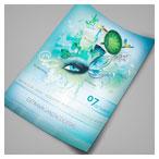 دانلود فایل لایه باز پیش نمایش تراکت و موکاپ پوستر ارائه شده با فرمت psd
