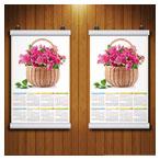 دانلود فایل PSD پیش نمایش یا موکاپ دو تقویم دیواری