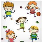 مجموعه وکتور pattern نقاشی شده کودکانه (Sketchy children Vector)