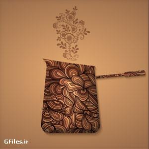 دانلود فایل لایه باز طراحی سنتی فنجان و قهوه با فرمت ai