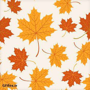 دانلود فایل لایه باز وکتوری پترن برگ های زرد پاییزی