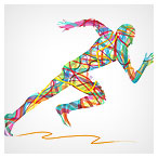 دانلود فایل وکتوری مرد دونده بصورت رنگی ، ارائه شده با پسوند ai