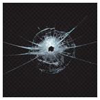 وکتور لایه باز شیشه شکسته