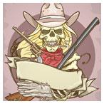 دانلود فایل لایه باز وکتور کابوی، اسکلت و تفنگ