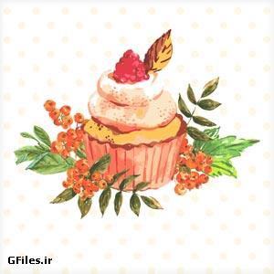 وکتور لایه باز بنر کیک خامه ، با فرمت های برداری ai و eps