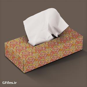فایل موکاپ (Mockup) جعبه و بسته بندی دستمال کاغذی