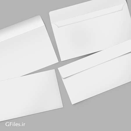 فایل psd پیش نمایش پاکت نامه بصورت پشت و رو