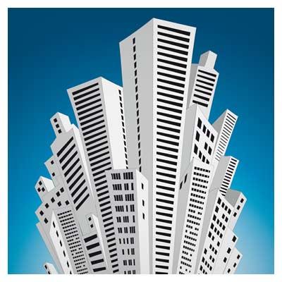 وکتور ساختمان های بلند
