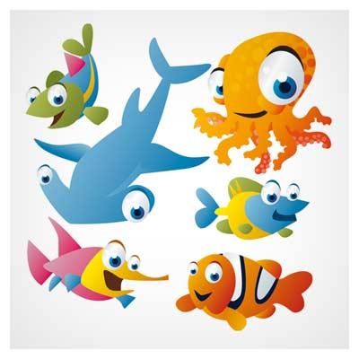 وکتور حیوانات دریایی