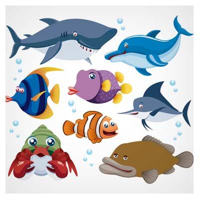 مجموعه وکتور ماهی