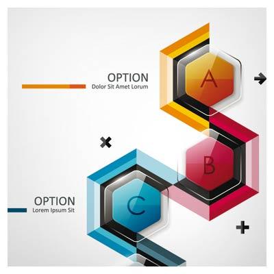 وکتور اینفوگرافیک مدرن و تجاری (Modern business diagram and infographic design vector)