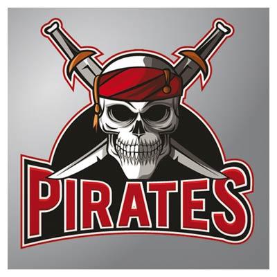 وکتور کارتونی لوگو و نماد دزدان دریایی بصورت لایه باز با فرمت eps