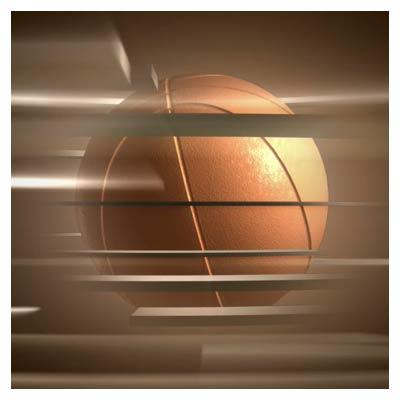 ویدئوی سه بعدی چرخش توپ بسکتبال