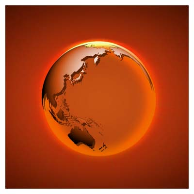 ویدیوی چرخش سه بعدی کره زمین