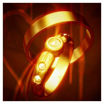 ویدیوی سه بعدی حلقه های ازدواج