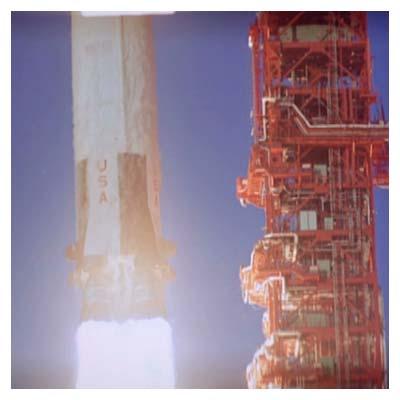 ویدیوی لحظه پرتاب شاتل فضایی
