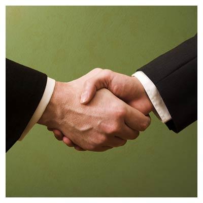 دست دادن و همکاری
