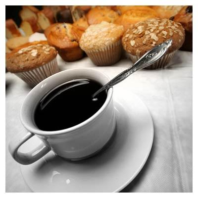 عکس با کیفیت قهوه و کیک