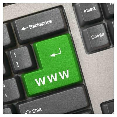 عکس با کیفیت کلید وب در کیبورد