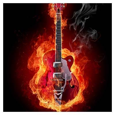 عکس با کیفیت گیتار آتشین !