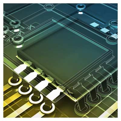 عکس سه بعدی مدار الکترونیکی