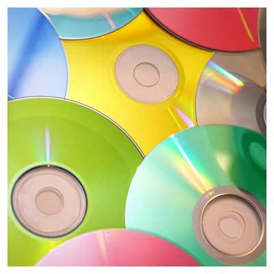 عکس با کیفیت سی دی های رنگی