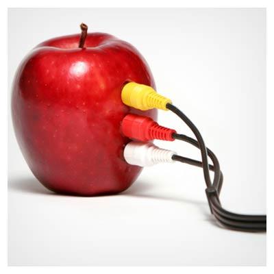 عکس با کیفیت سیب و تکنولوژی