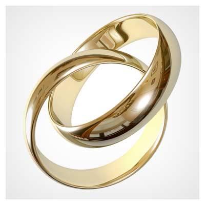 دانلود تصویر با کیفیت از حلقه های طلایی نامزدی (حلقه های ازدواج)