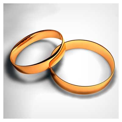 دانلود رایگان تصویر و عکس حلقه های طلایی نامزدی ازدواج