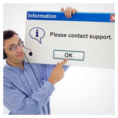 خطای تماس با واحد پشتیبانی