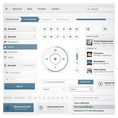 مجموعه المان های طراحی رابط کاربری