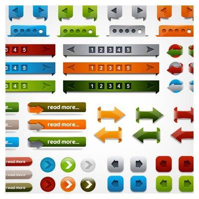 مجموعه شماره صفحه و کلیدهای جهتی وبسایت