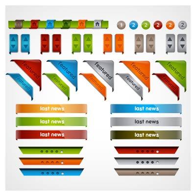 لیبل های لایه باز مناسب جهت طراحی قالب سایت