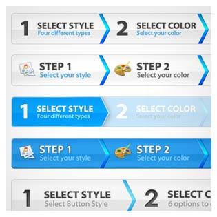 مجموعه نوار step مناسب برای طراحی قالب سایت