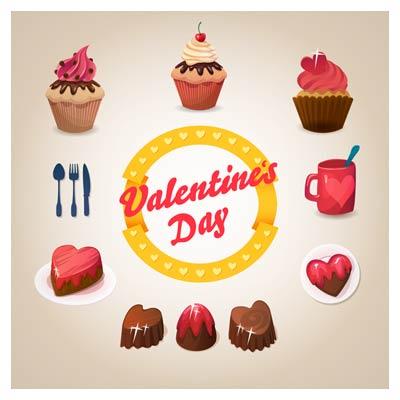 وکتور خوراکی های روز ولنتاین !
