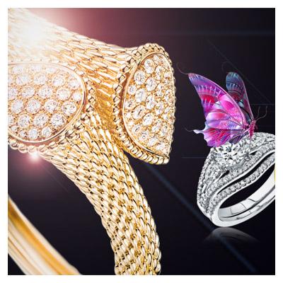بنر لایه باز اسلایدر با موضوع طلا و جواهر