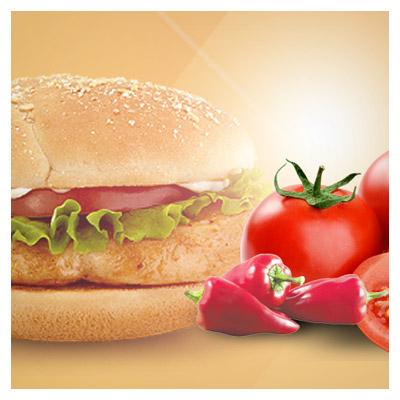 فایل لایه باز بنر ثابت سایت با موضوع همبرگر و فست فود