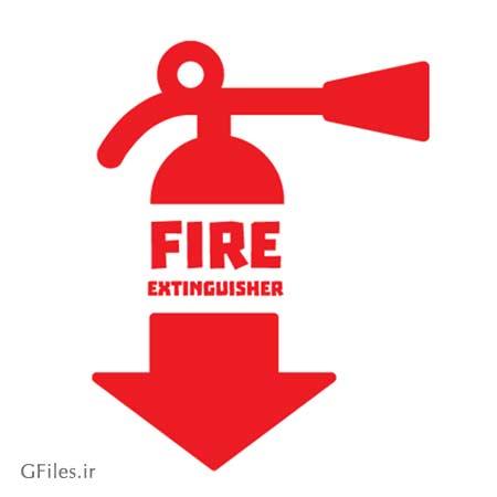 دانلود رایگان فایل وکتور لوگو و نماد کپسول آتش نشانی با پسوند AI