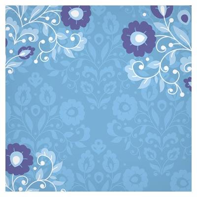 فایل رایگان وکتور پس زمینه با گلهای زیبای آبی با فرمت ai