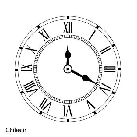 دانلود فایل آماده طرح ساعت منانسب برای لیزر یا cnc و کارهای گرافیکی