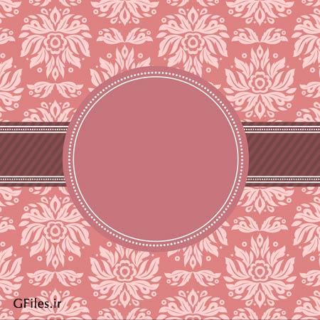 وکتور لایه باز طرح پس زمینه و قاب با نقوش سنتی تذهیبی